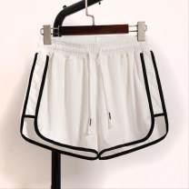 Casual pants Red, dark blue, black, Navy, gray, white, rose, purple, shrimp R40, pink k59 4XL suggests 155-165 Jin, s 75-95 Jin, 2XL 125-145 Jin, 3XL 145-155 Jin, m 95-105 Jin, l 105-115 Jin, XL 115-125 Jin, 5XL 165-175 Jin Summer of 2019 shorts Wide leg pants High waist commute routine cotton