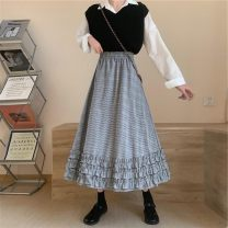 T-shirt Plaid, winter / wear out / short style / lady / bag arm / Skirt /, big swing / umbrella skirt / tooling / buttons / short skirt / Floral pieces /, thousand bird pattern / temperament / pocket / winding / Japanese / complex, ruffle / bag skirt / atmosphere / slim / official / pleat S,M,L other