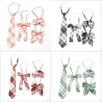 Bow tie Orange, light blue, pink, ginger, dark purple, red, green, gtf-1022, gte-1018, gtf-1023, gta-1004, gtd-1015, gtb-1008, gte-1019, gtc-1012, gta-1002, gta-1003, gtb-1007, gtf-1024, gtc1010, gte-1020, gtc-1011, gtd-1016 lattice Ordinary dress Korean version other Yarn dyed weaving Polyester