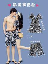 Couple swimsuit Naifeier S,M,L,XL,XXL,XXXL Women's, men's, children's Nylon, spandex currency