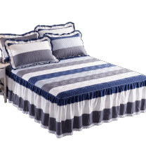 Bed skirt cotton Other / other Geometric pattern Qualified products D - six hundred and fourteen thousand three hundred and seventy-three