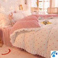 Bedding Set / four piece set / multi piece set spandex other Cartoon animation 128x68 Other / other cotton 4 pieces 40 Multicolor - Rococo blue [lotus lace], multicolor - Lilac [lotus lace], sweetheart - candy powder [lotus lace], sweetheart - Sky Blue [lotus lace] Sheet type Qualified products 100%