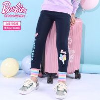 trousers Barbie / Barbie female 110cm 120cm 130cm 140cm 150cm Navy Pink spring and autumn trousers leisure time There are models in the real shooting Leggings Leather belt middle-waisted cotton Don't open the crotch Cotton 95% polyurethane elastic fiber (spandex) 5% A5-1391 Class B Spring 2021