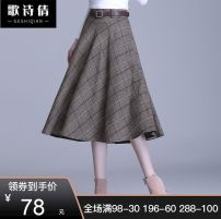 Cosplay women's wear jacket Customized Over 14 years old Brown check [free belt] [regular] , Grey check [free belt] [regular] , Brown check [free belt] [thickened] , Gray check [free belt] [thickened] comic 20/M Other / other Europe and America lovelive other Other / other