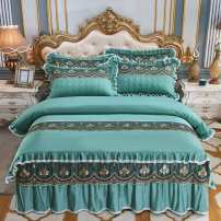 Bedding Set / four piece set / multi piece set cotton Embroidery, quilting Solid color 133x72 Other / other cotton 4 pieces 60 Attachment - Scarlet, attachment - bean paste, attachment - gray, attachment - Aqua Green, attachment - camel, attachment - pink, attachment - Pink Jade, attachment - Beige