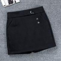 Casual pants Black-lzv, lattice-9z3 26/s,27/m,28/L,29/XL,30/2XL,31/3XL Spring 2021 shorts Straight pants High waist commute routine 31% (inclusive) - 50% (inclusive) Other polyester fiber pocket Asymmetry