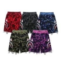 trousers BAPE neutral 90cm,100cm,110cm,120cm,130cm,140cm,150cm Black, blue, purple, red, army green summer trousers leisure time There are models in the real shooting Casual pants Leather belt middle-waisted cotton Cotton 100% Class A