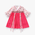 Dress Graph color female Other / other 90cm,100cm,110cm,120cm,130cm,140cm,150cm Other 100% summer Chinese style Short sleeve Broken flowers cotton Princess Dress T69006 Class B 12 months, 18 months, 2 years old, 3 years old, 4 years old, 5 years old, 6 years old