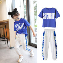 suit Other / other Red, yellow, blue female summer motion Short sleeve + pants 2 pieces Thin money There are models in the real shooting Socket nothing other blending children Expression of love F8006 Class B Cotton 80% other 20% 2, 3, 4, 5, 6, 7, 8, 9, 10, 11, 12, 13, 14 years old