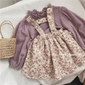 Dress Broken flowers female Other / other Cotton 100% spring and autumn leisure time Skirt / vest Broken flowers other other Class B 12 months, 18 months, 2 years old, 3 years old, 4 years old, 5 years old, 6 years old, 7 years old Chinese Mainland