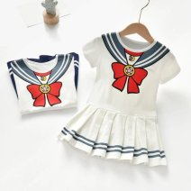 Dress White, blue, random female Other / other 80cm,90cm,100cm,110cm,120cm,130cm Other 100% summer other Cartoon animation cotton A-line skirt 644905082277 other 3 months