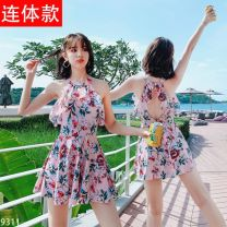 one piece  Other brands M (recommended weight 80-95 kg), l (recommended weight 95-108 kg), XL (recommended weight 108-120 kg), 2XL (recommended weight 120-140 kg), 3XL (recommended weight 140-155 kg) Skirt one piece With chest pad without steel support Spandex, polyester B33421 female Short sleeve