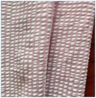 Fabric / fabric / handmade DIY fabric chemical fiber Lemon yellow stripe one meter, pink stripe one meter Loose shear piece stripe printing and dyeing Others Other / other Chinese Mainland