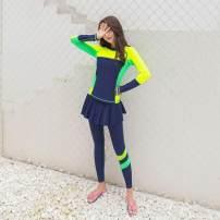 Diving suit JACKDIVE female 201-500 yuan K18006 pink, k18006 blue, k18006 green 5XL,L,6XL,XL,4XL,M,2XL,3XL diving China Winter 2017 nylon