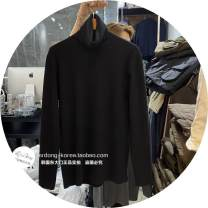 T-shirt Youth fashion Gray, Fuchsia, black, ivory, mocha, brown routine Average size Others Long sleeves High collar easy campus winter
