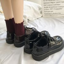 Low top shoes 35,36,37,38,39 Other / other Round head PU Flat bottom Low heel (1-3cm) Deep mouth Artificial short plush Winter of 2018 Frenulum Korean version Sewing shoes Youth (18-40 years old) Solid color rubber Single shoes Cross strapping, sequins, platform JNW-C05-21031