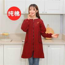 apron Sleeve apron antifouling Simplicity pure cotton Household cleaning Average size public yes Cartoon