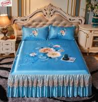 Bed skirt 150x200 (three piece mat set), 180x200 (three piece mat set), 180x220 (three piece mat set), 200x230 (three piece mat set) silk Other / other Plants and flowers First Grade