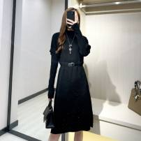 Dress Winter 2020 C63-s-black, Q12 color GK S (80-100kg), m (100-110kg), l (110-120kg), XL (120-135kg) longuette other Long sleeves commute other Elastic waist other other other routine Others 30-34 years old Type H Other / other Resin fixation A24850 other other