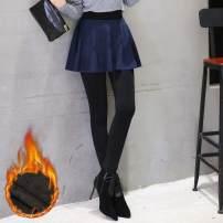 Leggings Winter of 2018 Black, Navy, Burgundy Average size Plush trousers 18-24 years old