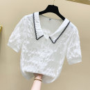 shirt White, green, yellow S,M,L,XL Summer 2021 cotton 81% (inclusive) - 90% (inclusive) Short sleeve Sweet Regular Single row multi button Solid color Ocnltiy princess