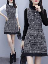 Parent child fashion Vest skirt, vest skirt + black sweater, vest skirt + white sweater other female Other / other S,M,L,XL,XXL See description 12 months