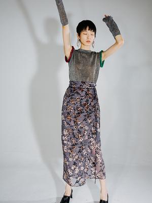 skirt Summer 2020 High waist other Broken flowers Type H ASM09052 S,M,L Broken flowers in stock