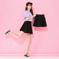 skirt Spring 2017 S suggests 80-95 Jin, m suggests 95-105 Jin, l suggests 105-120 Jin, XL suggests 120-135 Jin, 2XL suggests 135-150 Jin, 3XL suggests 150-170 Jin Short skirt fresh High waist A-line skirt letter Type H 35-39 years old - 91% (inclusive) - 95% (inclusive) Silk and satin polyester fiber