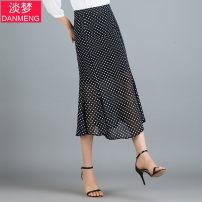 skirt Summer of 2019 M/27,L/28,XL/29,XXL/30,XXXL/31,XXXXL/32 Wave point longuette commute High waist skirt Dot Type A D19X1971 More than 95% other Other / other polyester fiber Wave point Korean version 201g / m ^ 2 (including) - 250G / m ^ 2 (including)
