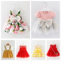 Dress Summer 2021 66cm 73cm 80cm 90cm 100cm Miniskirt commute lattice Cake skirt Princess sleeve camisole 18-24 years old Sufan shirt lady SFS#6ZxiX5yA_ VzAGe More than 95% cotton Cotton 100%