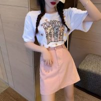 Family clothes for parents and children S,M,L,XL other Top + skirt