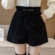 Women's large Winter 2020 Gray, black, brown, no reason to return or exchange in seven days S,M,L,XL trousers singleton  commute moderate Korean version Three dimensional cutting MFAH80512 Other 25-29 years old 96% and above shorts