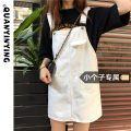 Dress Summer 2021 Black Beige XS S M L Short skirt singleton  Sleeveless commute One word collar High waist Solid color other other other straps 18-24 years old Type H Quan Yin Ying Korean version pocket More than 95% other other Other 100% Pure e-commerce (online only)