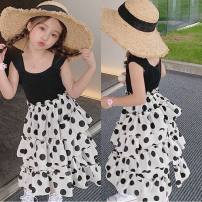 Outdoor casual clothes Tagkita / she and others female ninety-one Graph color 51-100 yuan Size 7 for 95-100cm, size 9 for 100-105cm, size 11 for 105-115cm, size 13 for 115-120cm, size 15 for 120-130cm other Sleeveless Crew neck