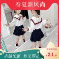 suit Other / other Tibetan Blue School Uniform suit, white school uniform suit, Blue Maple Leaf suit 110cm recommended height 100, 120cm recommended height 110, 130cm recommended height 120, 140cm recommended height 130, 150cm recommended height 140, 160cm recommended height 150 female