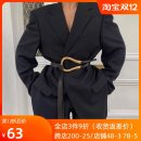 Belt / belt / chain Double skin leather Black (small), black (large), coffee (small), coffee (large), white (small), white (large) female belt Versatile Single loop Youth, youth, middle age Smooth button Glossy surface Glossy surface 2.3cm alloy alone
