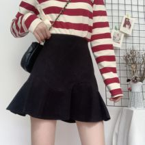 skirt Winter 2020 S,M,L,XL,2XL,3XL,4XL Black [Tweed Fabric], black [suit fabric] Short skirt Versatile High waist Ruffle Skirt Solid color Type A 18-24 years old 81% (inclusive) - 90% (inclusive) Wool other Wave, zipper, inner safety pants 201g / m ^ 2 (including) - 250G / m ^ 2 (including)