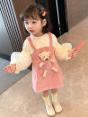 Dress Pink female Other / other 120cm,100cm,130cm,110cm,90cm Cotton 90% other 10% spring and autumn Korean version Strapless skirt Solid color cotton Strapless skirt Class B 2 years old, 3 years old, 4 years old, 5 years old, 6 years old, 7 years old, 8 years old Chinese Mainland