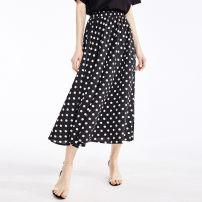 skirt Summer 2020 Average size Black, white Miniskirt street High waist other Dot Type A 9XSB011 Other / other