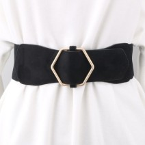 Belt / belt / chain Double skin leather Black, brown, camel, jujube, apricot beige female Waistband Versatile Single loop Smooth button Glossy surface soft surface alloy Naked, elastic Other / other HDMG-079