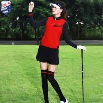 Golf apparel Red vest, Black Trouser skirt, black undergarment, Vest + undergarment, Vest + undergarment + trouser skirt S,M,L,XL,XXL female ZG-6 Vest Y8827
