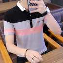 T-shirt Youth fashion thin GXG JORGE Short sleeve Shirt collar Super slim daily summer Cotton 95% triacetate 5% youth routine Simplicity in Europe and America other 2020 Broken flowers Button decoration cotton Creative interest washing Fashion brand More than 95%