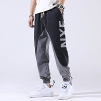 Casual pants Others Youth fashion 8630 grey, 8630 black M (90-105 kg), l (105-120 kg), XL (120-135 kg), 2XL (135-155 kg), 3XL (155-170 kg), 4XL (170-190 kg), 5XL (190-210 kg) routine Ninth pants Travel? Straight cylinder Micro bomb 1-5-17    8630 summer youth tide middle-waisted Little feet cotton