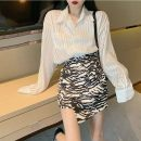 Fashion suit Summer 2021 S M L XL White shirt + Zebra skirt 18-25 years old Yingyuqin WZY - eight thousand two hundred and nine polyester fiber Other 100% Pure e-commerce (online only)
