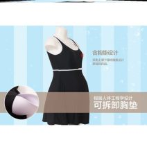 Split swimsuit Other Black conjoined, rose red black split, Tibetan blue love conjoined, blue flower, color am 2XL (100-135kg), 3XL (135-155kg), 4XL (155-175kg) boxer With chest pad without steel support spandex T86721