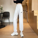 Casual pants White grey black M L XL Spring 2021 trousers Wide leg pants High waist commute routine 18-24 years old MYJ211-0865 Meow demon Jun Korean version Embroidery Polyester 90% other 10% Pure e-commerce (online only)