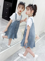 Dress Blue, collection and purchase, priority delivery female Other / other Other 100% summer Korean version Strapless skirt Solid color other Strapless skirt WF-JMX0100 2, 3, 4, 5, 6, 7, 8, 9, 10, 11, 12, 13, 14 years old