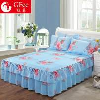 Bed skirt 2 pillowcases for bed skirt 2x2.2m, 2 pillowcases for bed skirt 1.8x2m, 2 pillowcases for bed skirt 1.8x2.2m, 2 pillowcases for bed skirt 1.5X2m and 2 pillowcases for bed skirt 1.2x2m cotton Other / other Plants and flowers First Grade A002-4D7U