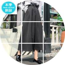 skirt Autumn 2020 S,M,L,XL Brown, grey, black commute High waist A-line skirt Solid color Type A 25-29 years old B123 51% (inclusive) - 70% (inclusive) other Korean version