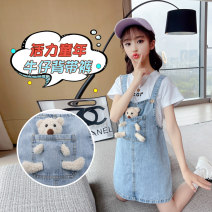 Dress female Other / other Other 100% summer Korean version Skirt / vest Bear other Strapless skirt Czn189-bear carrying skirt-b7 Class B 14, 3, 5, 9, 12, 7, 8, 6, 2, 13, 11, 4, 10 Chinese Mainland Blue, T-shirt + skirt 110, 120, 130, 140, 150, 160